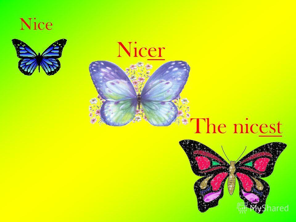 Nice Nicer The nicest