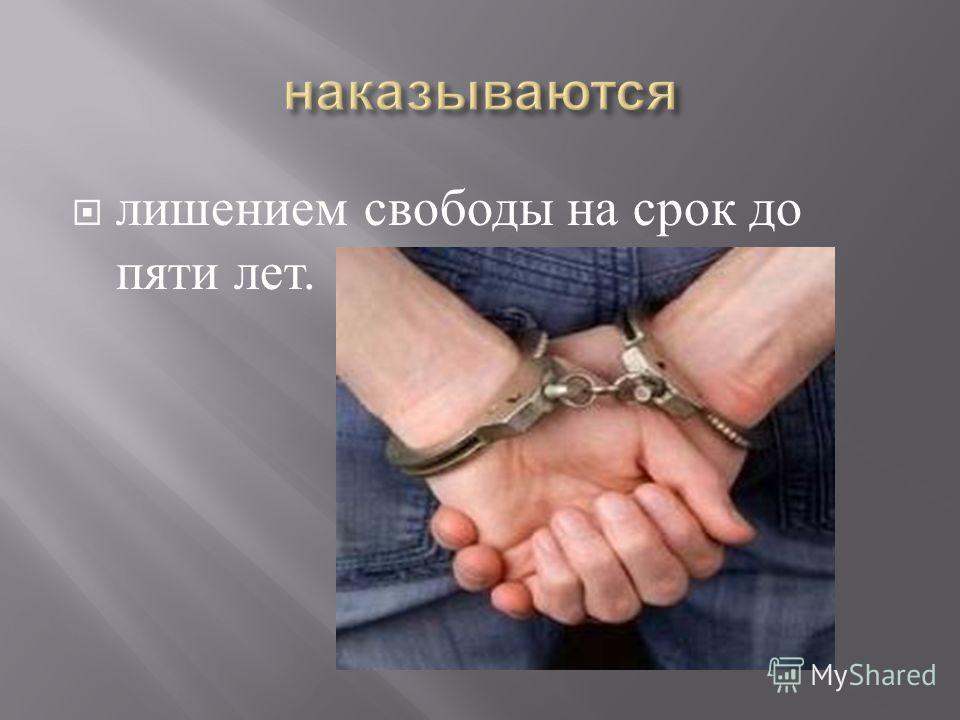 лишением свободы на срок до пяти лет.
