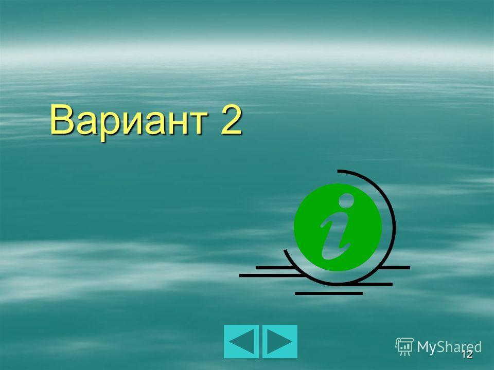 12 Вариант 2