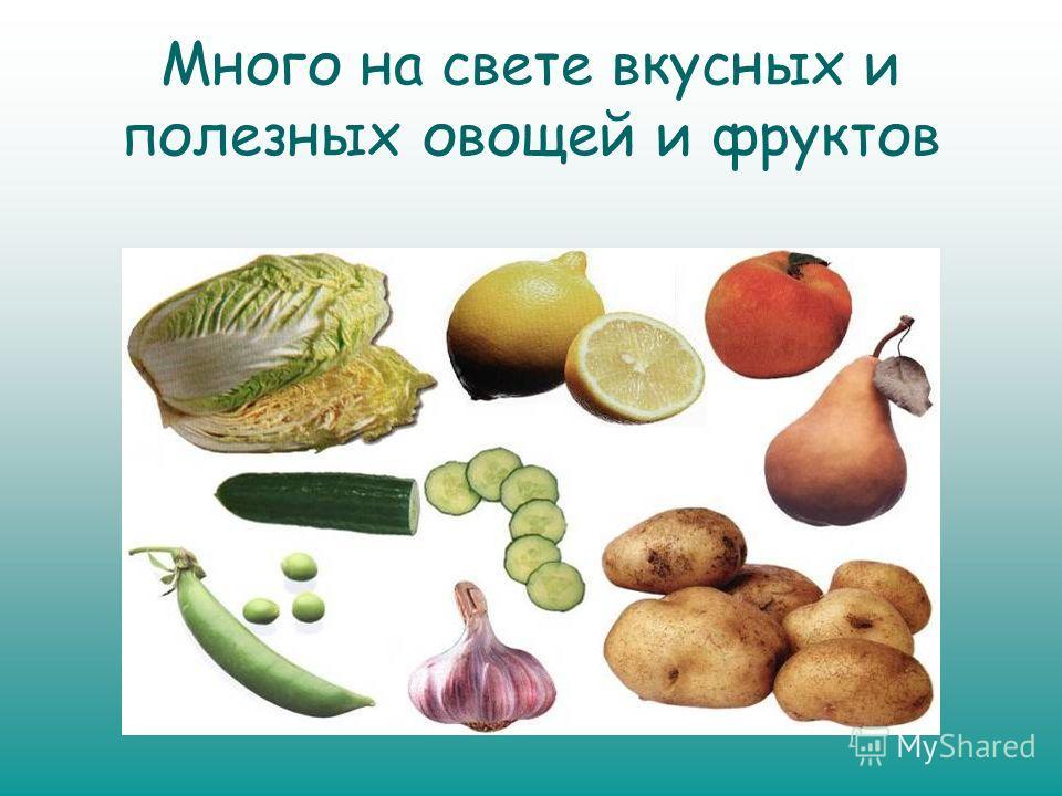 Много на свете вкусных и полезных овощей и фруктов