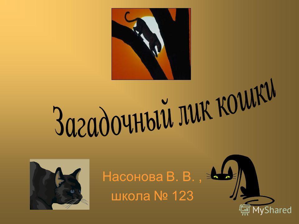 Насонова В. В., школа 123