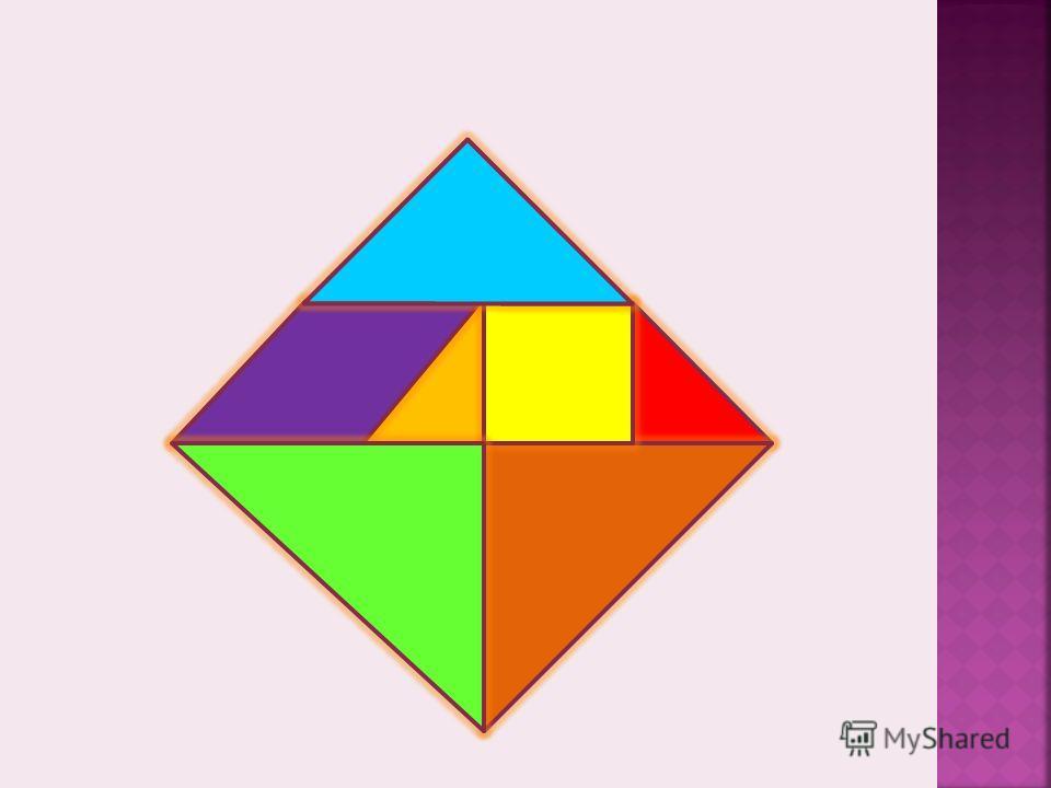 Если разрезать квадрат по определенным линиям, то мы получим набор геометрических фигур: квадрат, ромб и 5 треугольников различной величины – средний, два больших и два маленьких. Это и есть танграм Чтобы ребенок понял и научился выкладыванию изображ