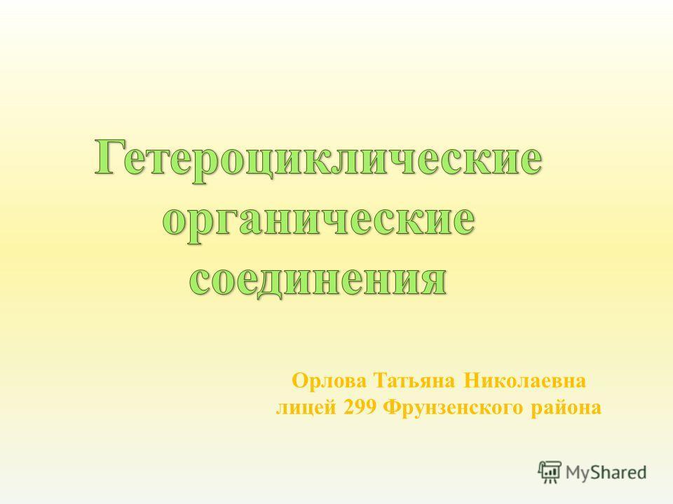 Орлова Татьяна Николаевна лицей 299 Фрунзенского района