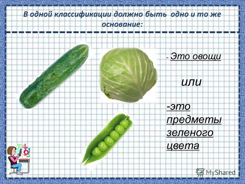 - Это овощи или -это предметы зеленого цвета
