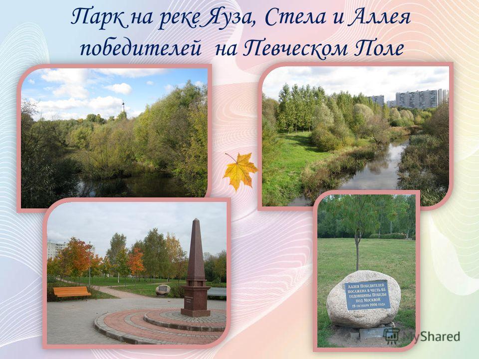 Парк на реке Яуза, Стела и Аллея победителей на Певческом Поле