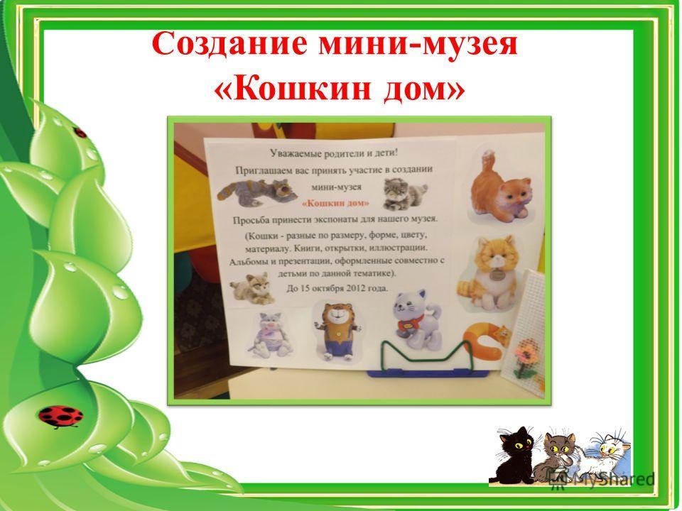 С оздание мини-музея «Кошкин дом»