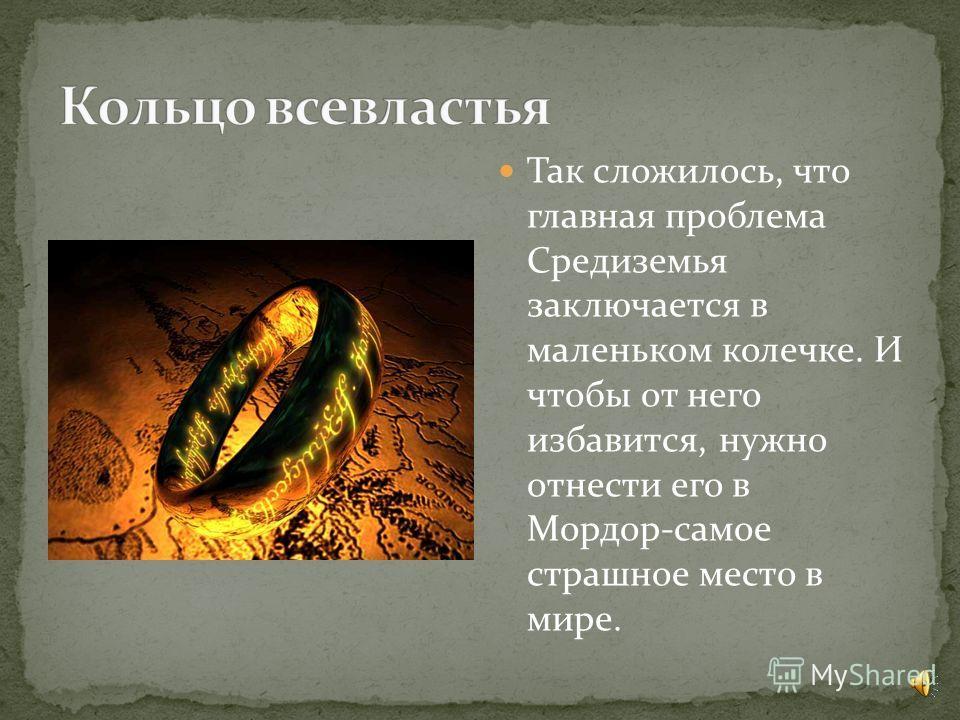 Здравствуйте, я расскажу вам о книге «Властелин Колец», её написал Джон Рональд Руэл Толкин. Надеюсь, книга вам понравится. А теперь кратко о сюжете.