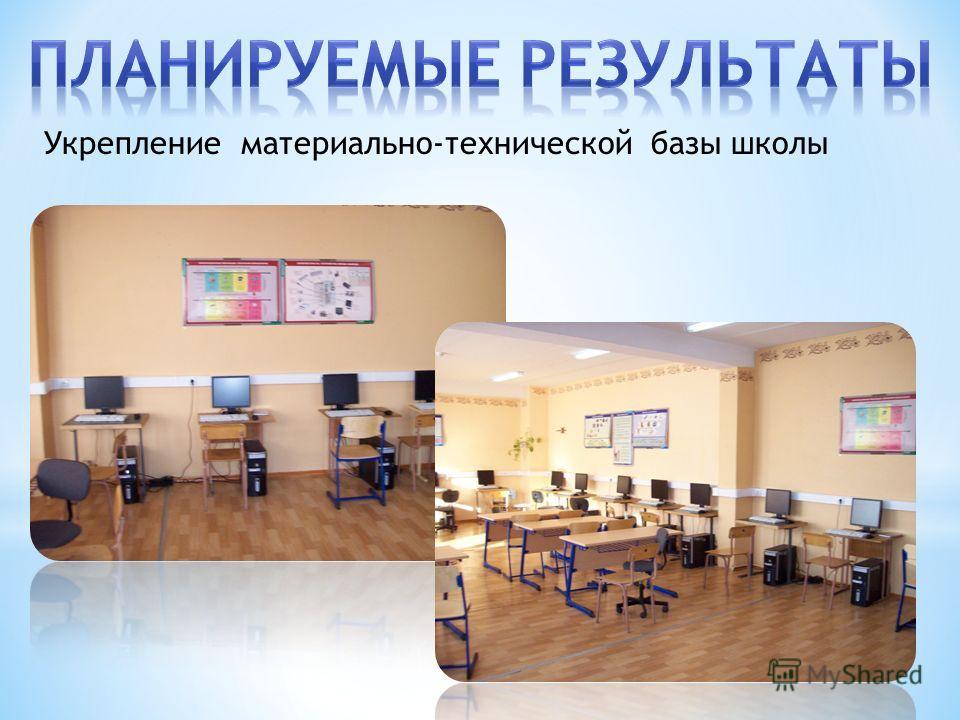 Укрепление материально-технической базы школы