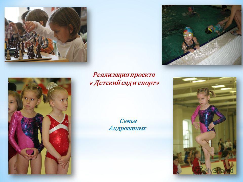Реализация проекта « Детский сад и спорт» Семья Андрошиных