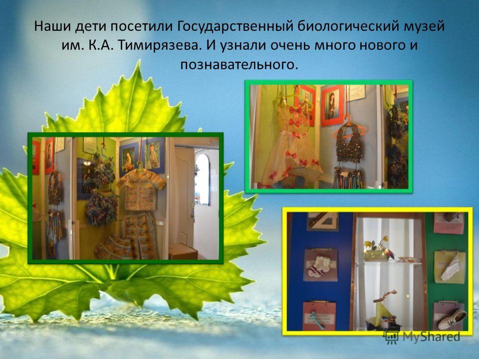 Наши дети посетили Государственный биологический музей им. К.А. Тимирязева. И узнали очень много нового и познавательного.