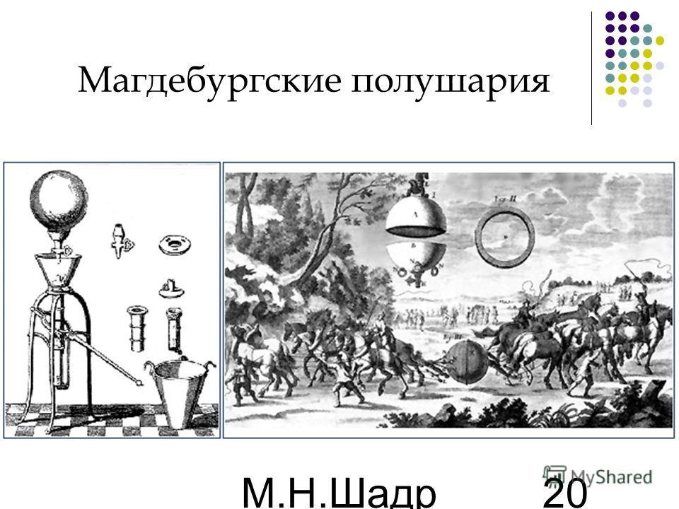 М.Н.Шадр ина 20 Магдебургские полушария
