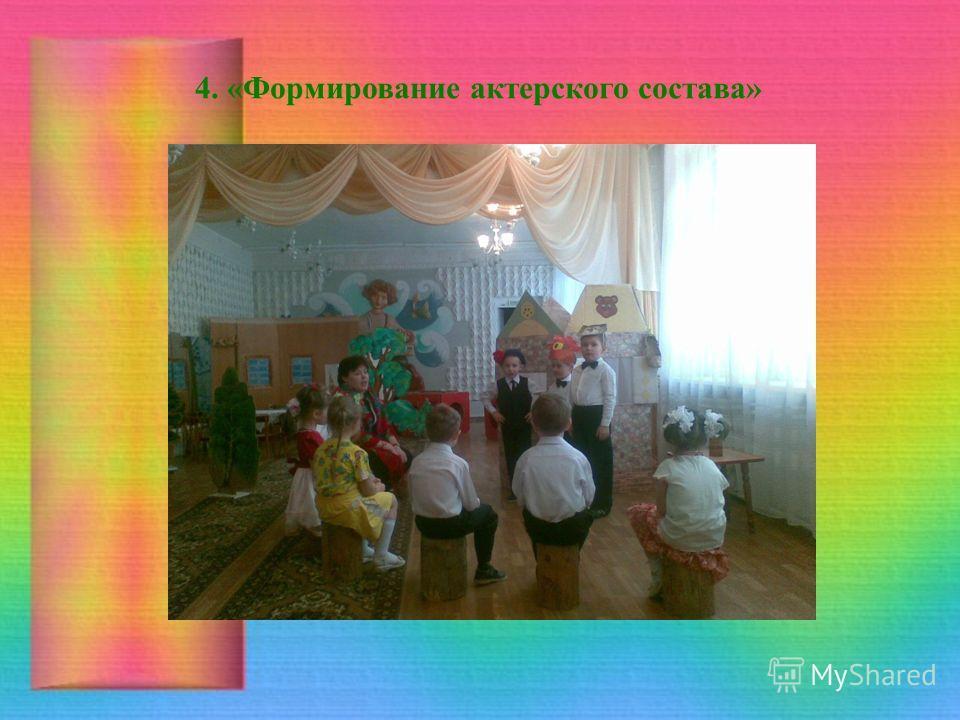 4. «Формирование актерского состава»