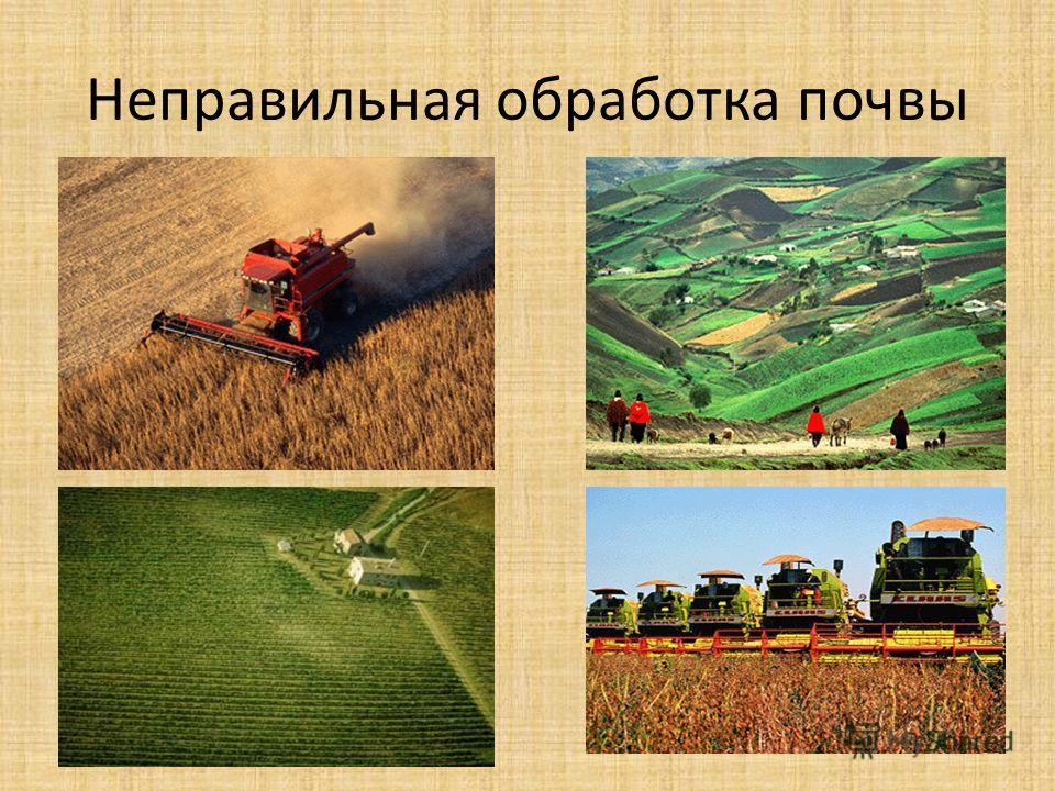 Неправильная обработка почвы