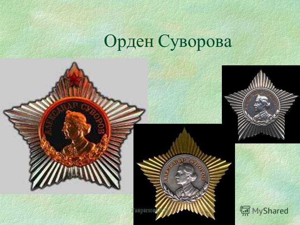 Орден Суворова Гаврилова В.Н