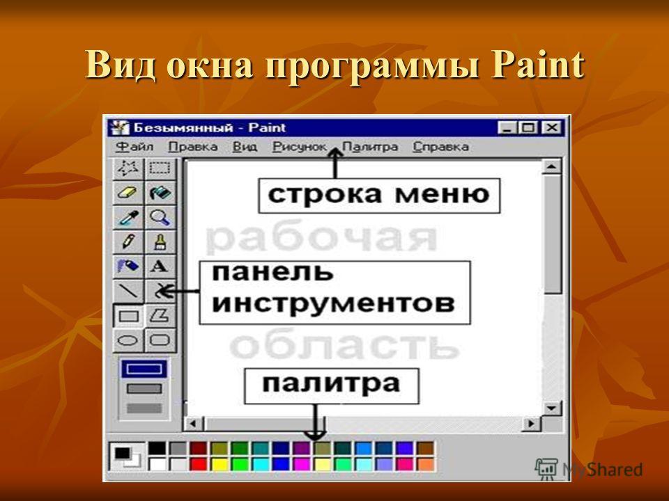 Вид окна программы Paint