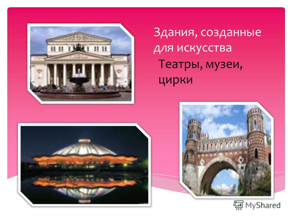 Здания, созданные для искусства Театры, музеи, цирки