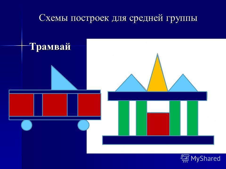 Схемы построек для средней