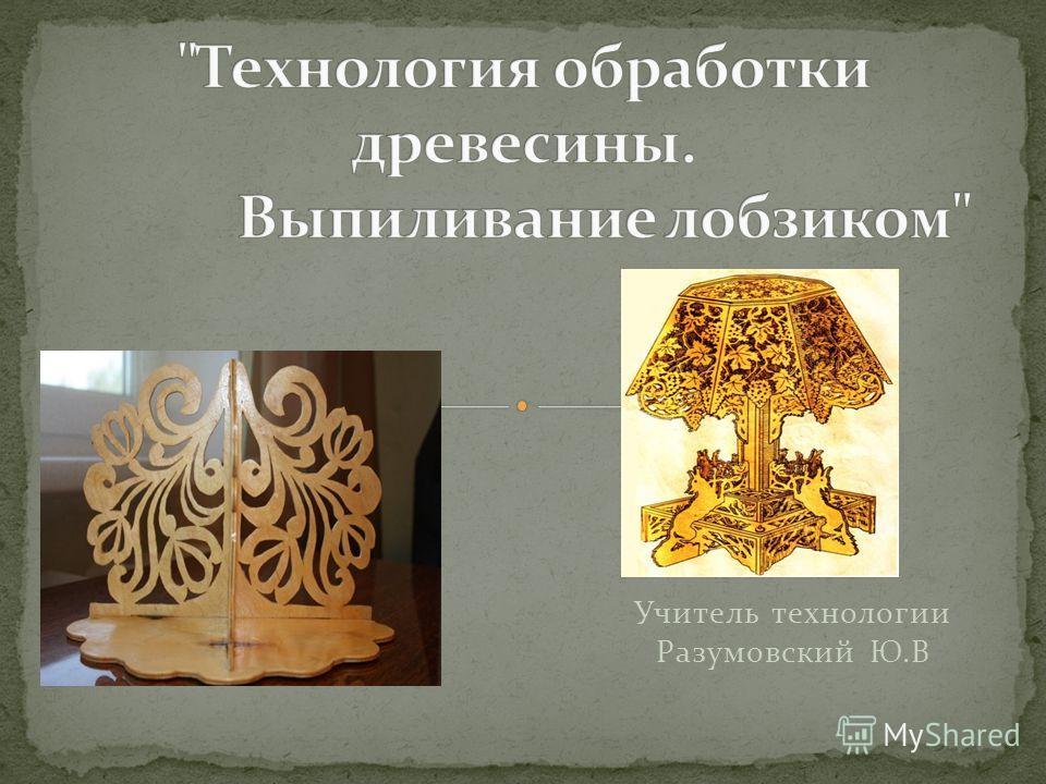Учитель технологии Разумовский Ю.В