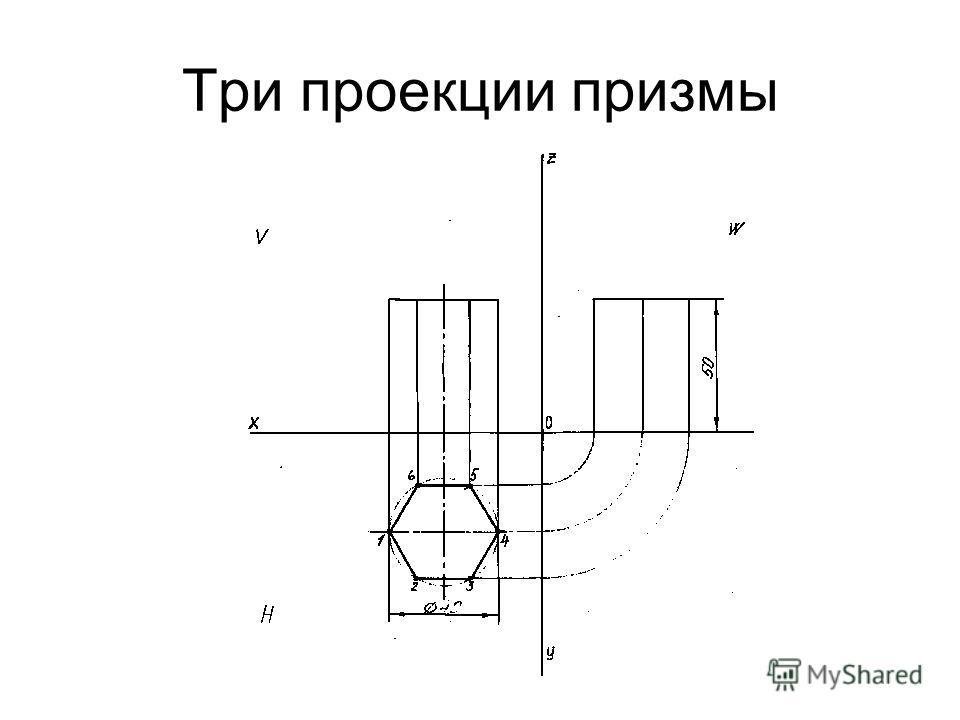 Три проекции призмы