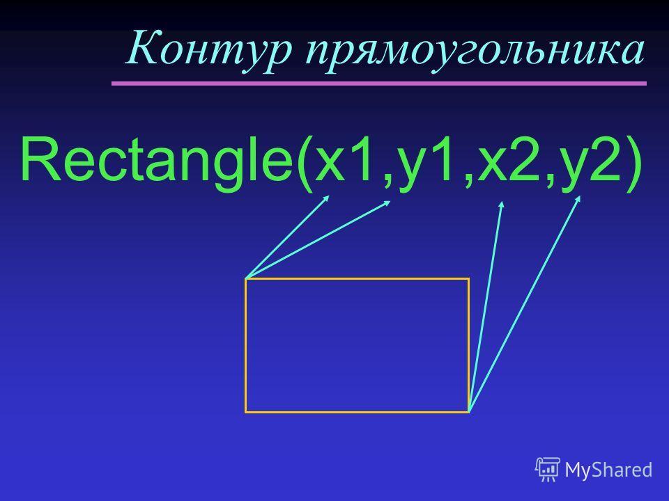 Контур прямоугольника Rectangle(x1,y1,x2,y2)