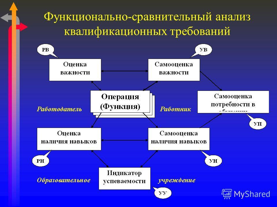 Функционально-сравнительный анализ квалификационных требований