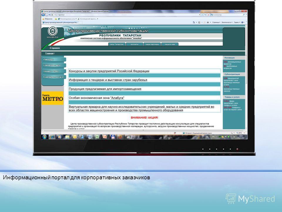 LOGO Механизмы доступа Информационный портал для корпоративных заказчиков
