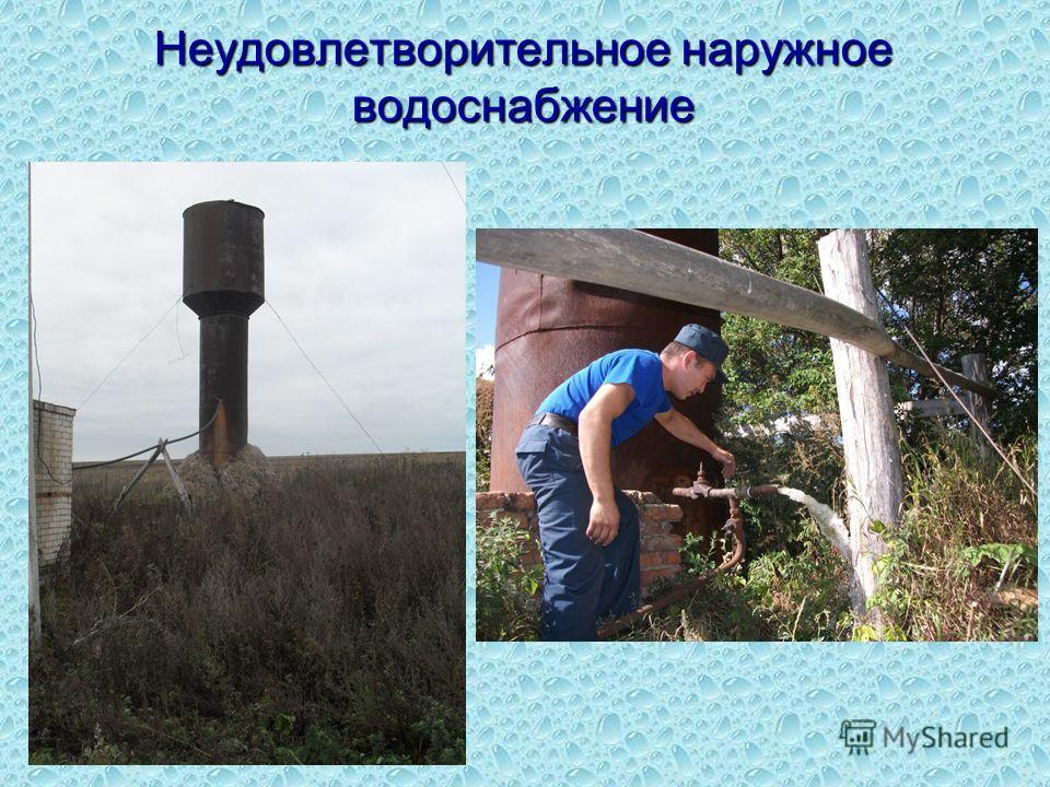 Неудовлетворительное наружное водоснабжение