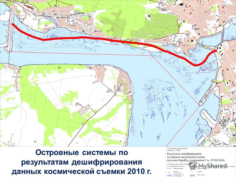 Островные системы по результатам дешифрирования данных космической съемки 2010 г.