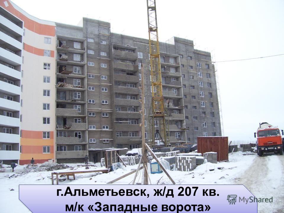 г.Альметьевск, ж/д 207 кв. м/к «Западные ворота» г.Альметьевск, ж/д 207 кв. м/к «Западные ворота»