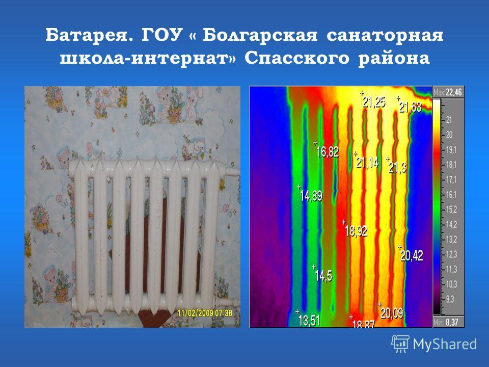 Батарея. ГОУ « Болгарская санаторная школа-интернат» Спасского района