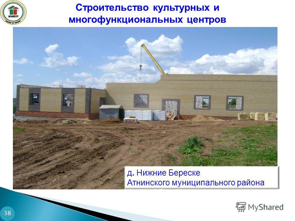 Строительство культурных и многофункциональных центров 38 д. Нижние Береске Атнинского муниципального района