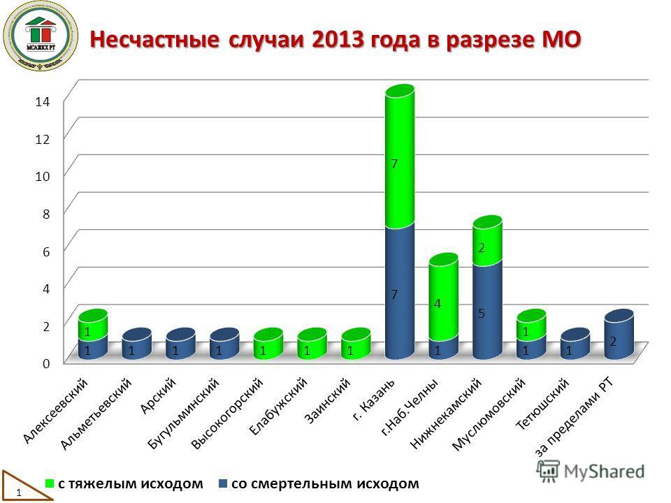 Несчастные случаи 2013 года в разрезе МО 1