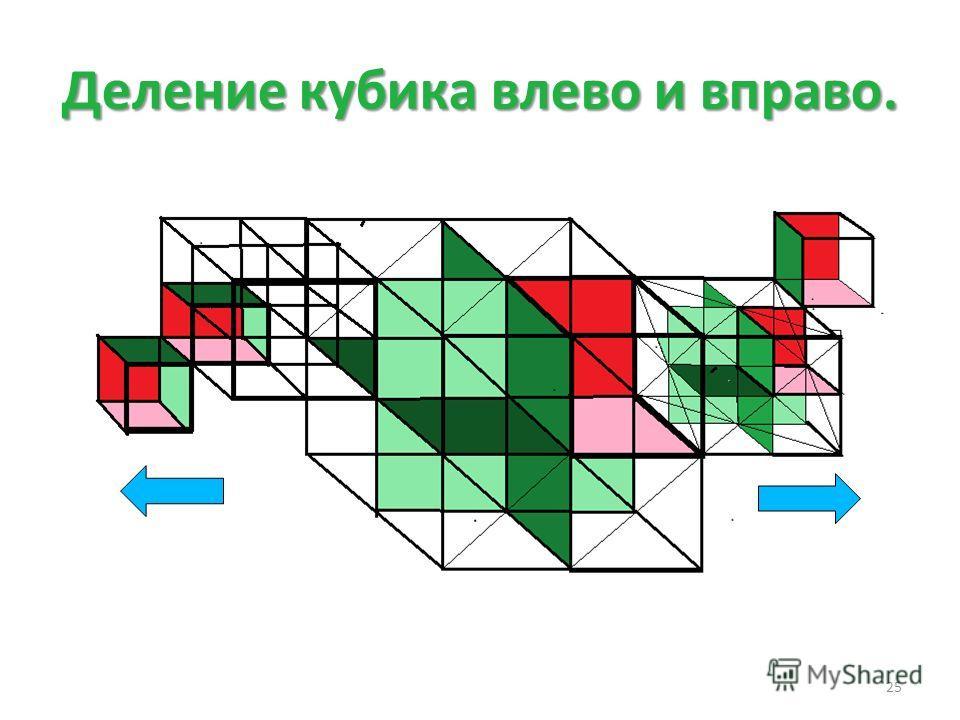 Деление кубика влево и вправо. 25