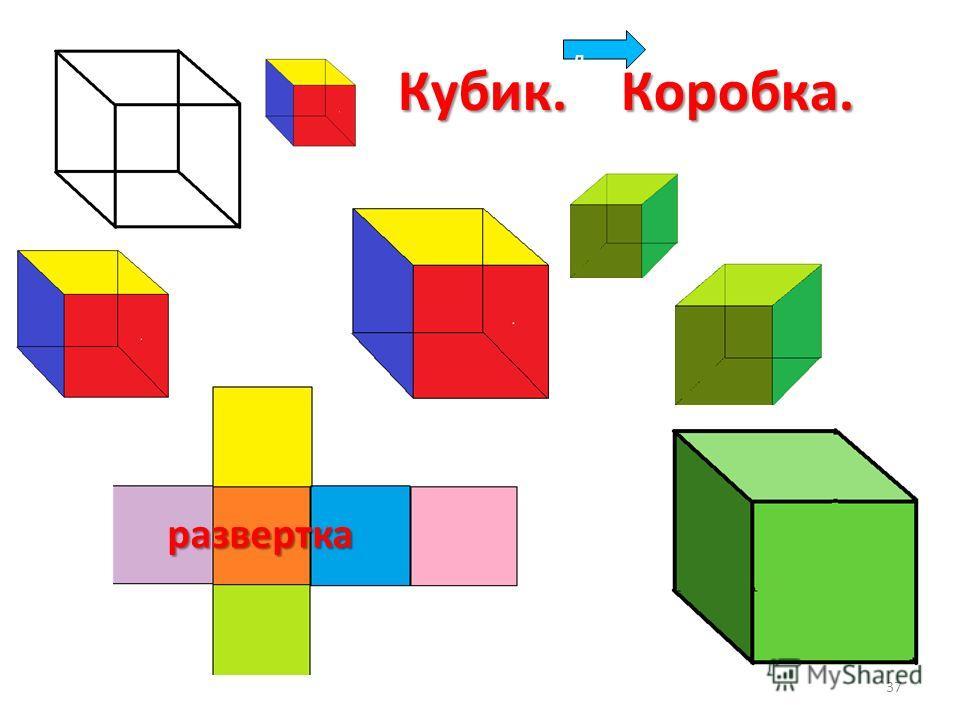 Кубик. Коробка. д 37 развертка