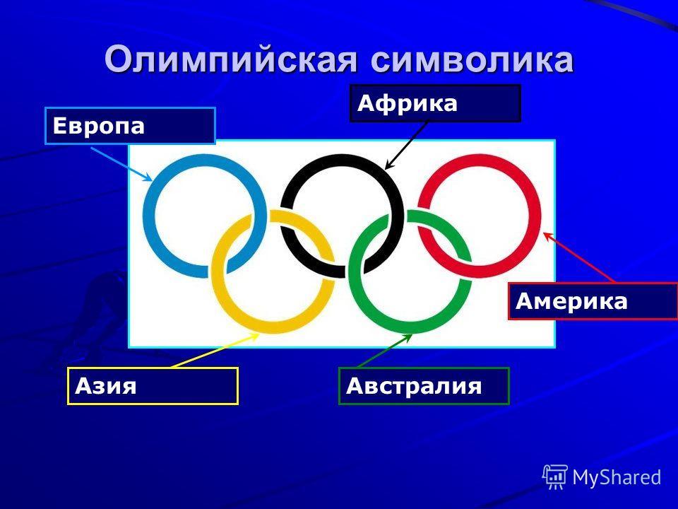 Олимпийская символика Азия Европа Австралия Америка Африка