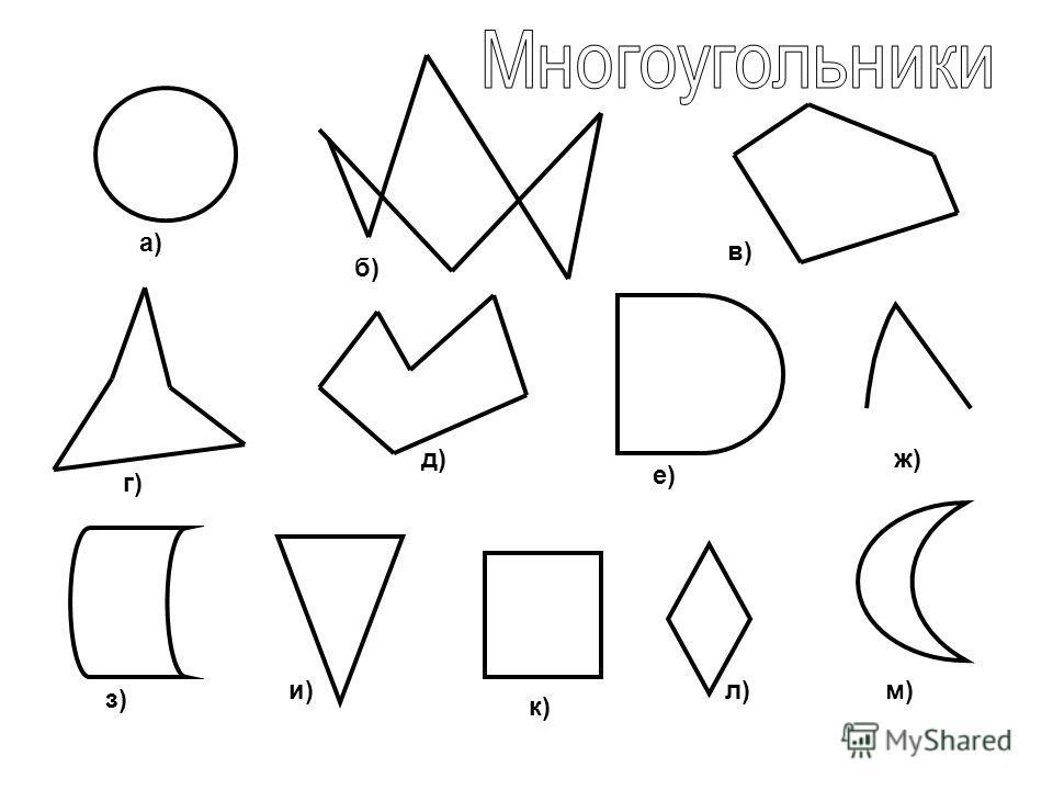 а) б) в) г) д) е) ж) з) и) к) л)м)