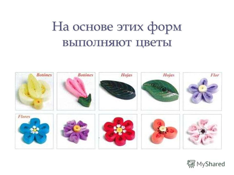 На основе этих форм выполняют цветы