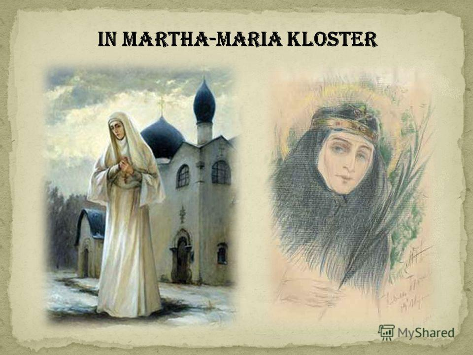 In Martha-Maria Kloster
