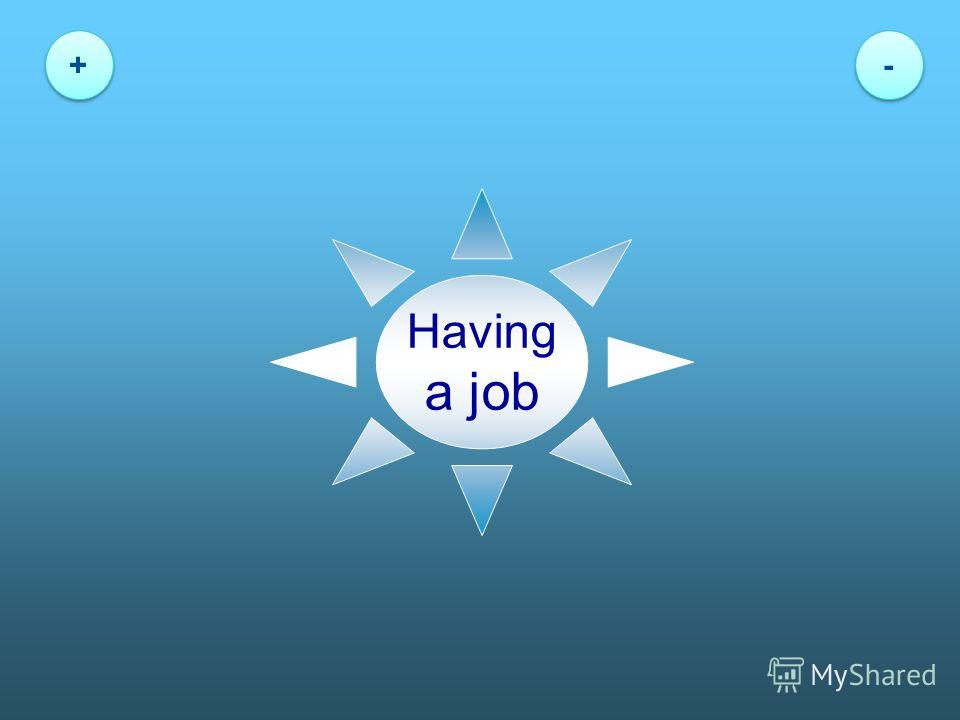 Having a job + + - -