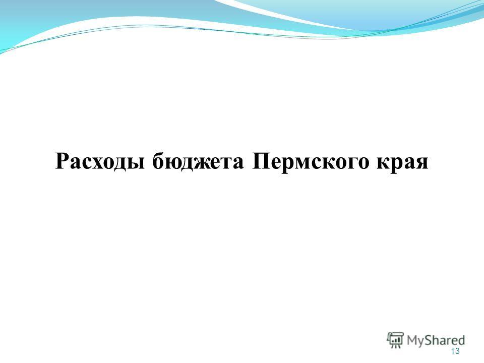 13 Расходы бюджета Пермского края