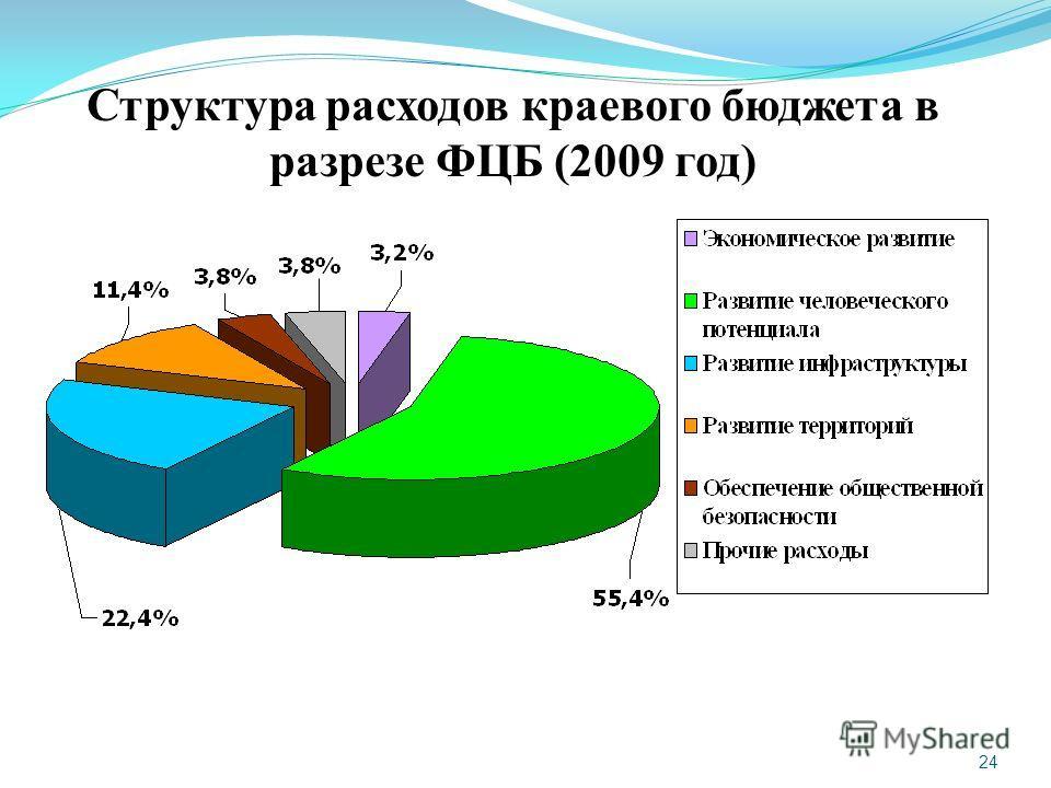 24 Структура расходов краевого бюджета в разрезе ФЦБ (2009 год)