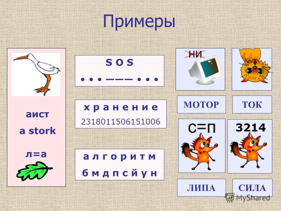 Примеры аист a stork л=а S O S х р а н е н и е 2318011506151006 а л г о р и т м б м д п с й у н 3214 МОТОРТОК ЛИПАСИЛА