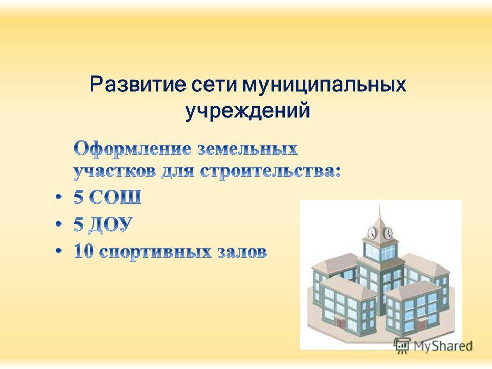 Развитие сети муниципальных учреждений