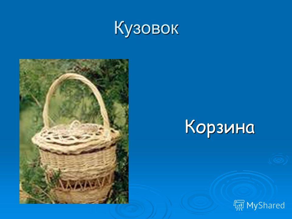 Кузовок Корзина Корзина
