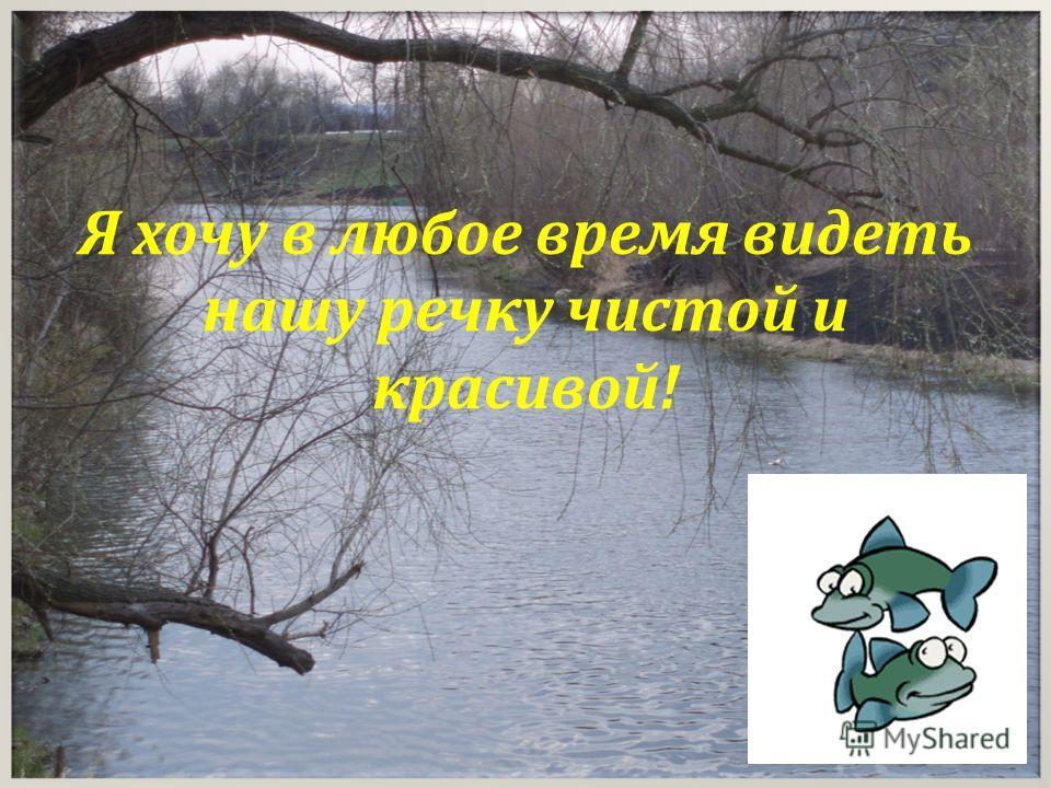 Я хочу в любое время видеть нашу речку чистой и красивой!