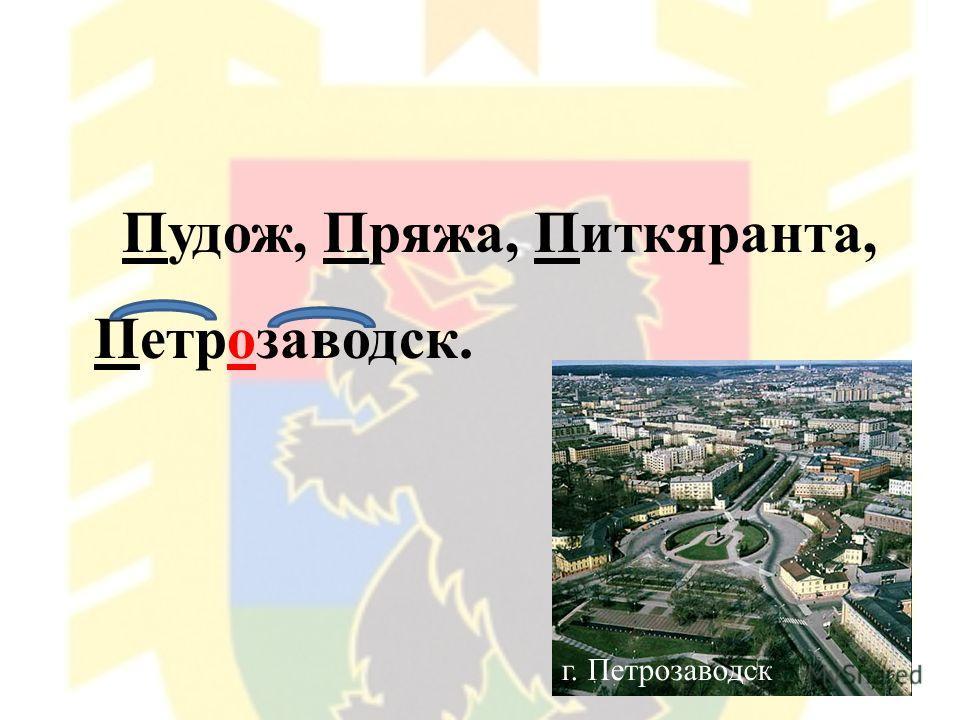 Пудож, Пряжа, Питкяранта, Петрозаводск. г. Петрозаводск