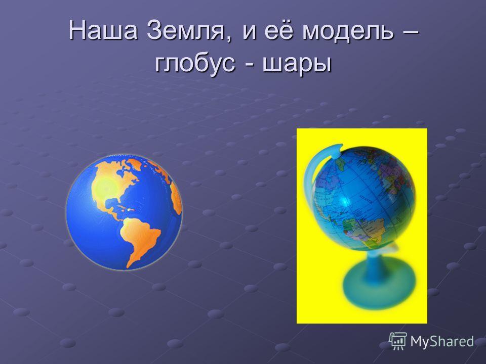 Наша Земля, и её модель – глобус - шары
