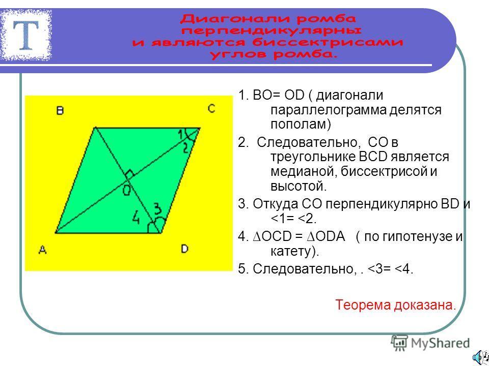 РОМБ Определение: Параллелограмм, у которого все стороны равны, называется ромбом.