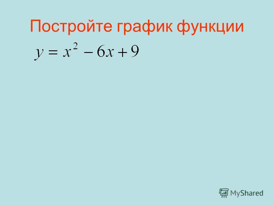 Постройте график функции