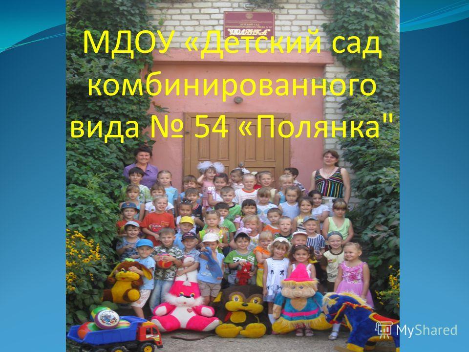 МДОУ «Детский сад комбинированного вида 54 «Полянка